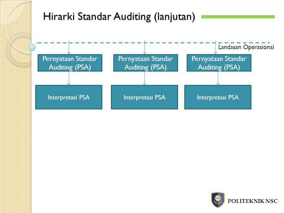 Hirarki Standar Auditing (lanjutan)