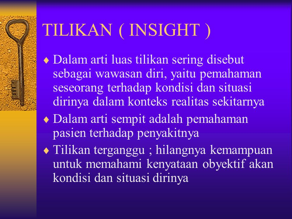 TILIKAN ( INSIGHT )