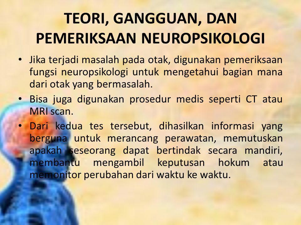 TEORI, GANGGUAN, DAN PEMERIKSAAN NEUROPSIKOLOGI
