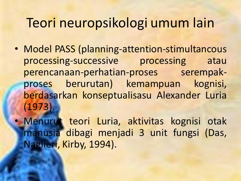 Teori neuropsikologi umum lain