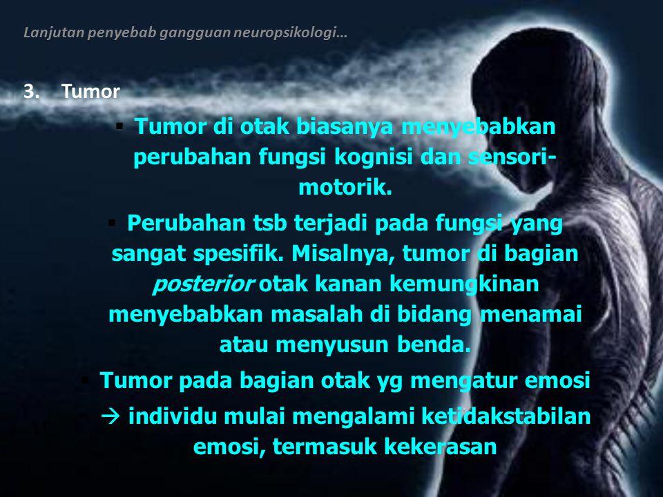 Tumor pada bagian otak yg mengatur emosi