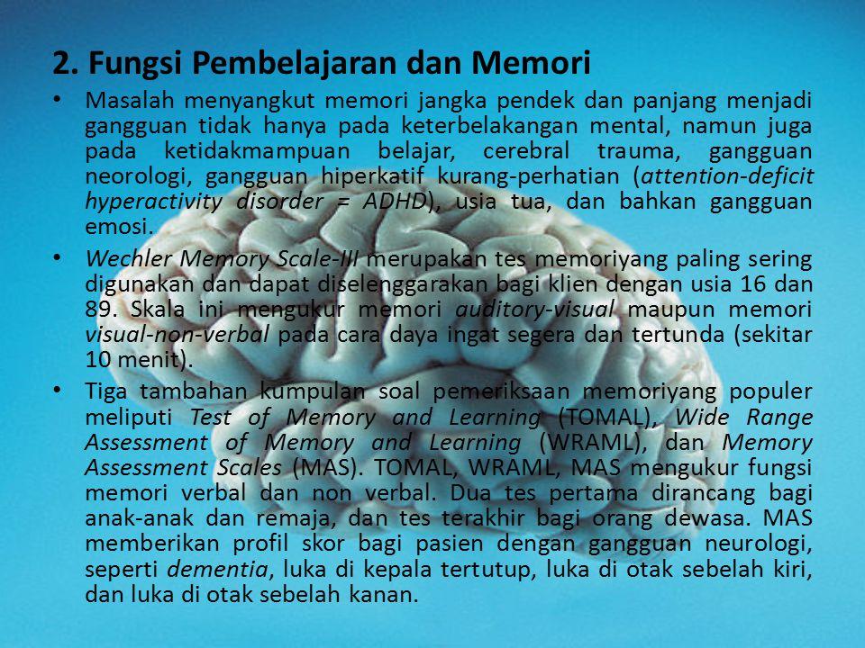2. Fungsi Pembelajaran dan Memori