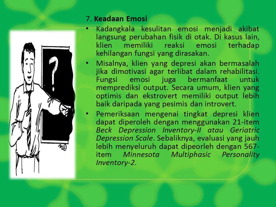 7. Keadaan Emosi