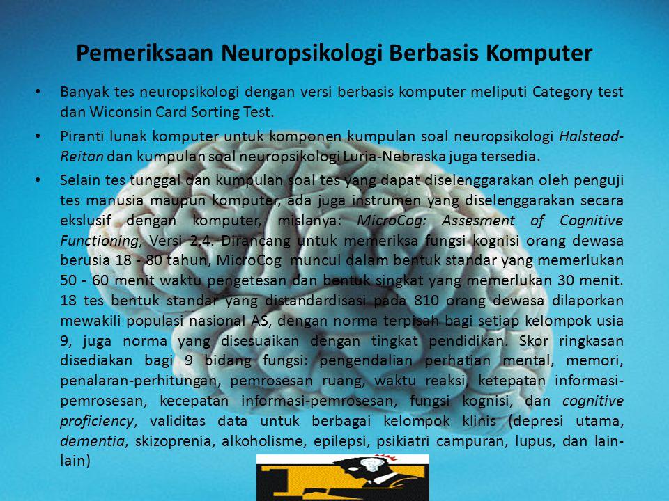 Pemeriksaan Neuropsikologi Berbasis Komputer