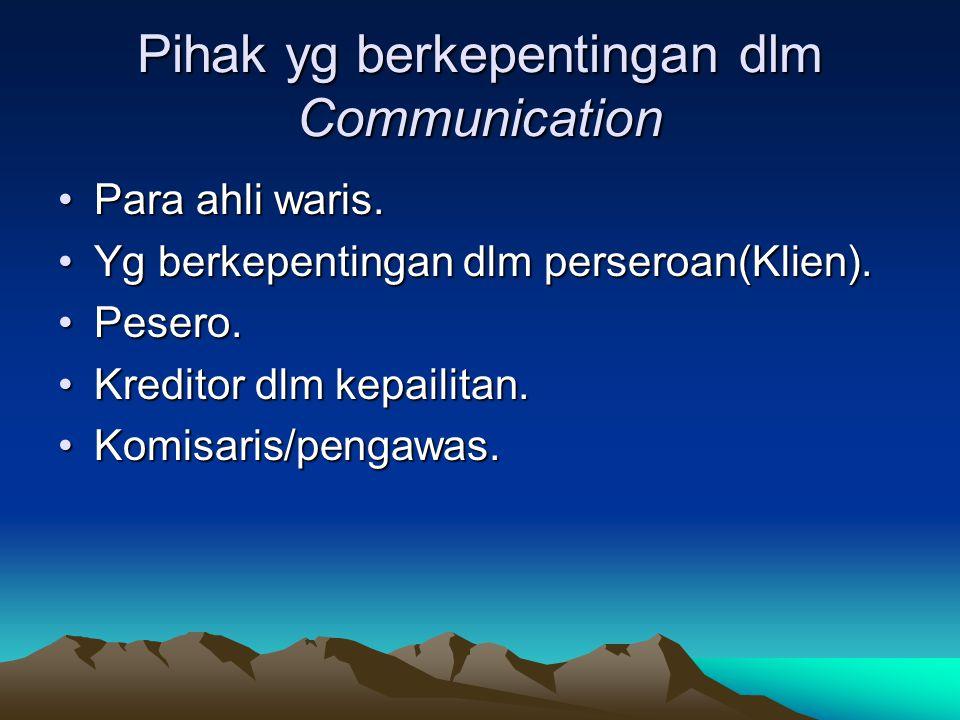 Pihak yg berkepentingan dlm Communication