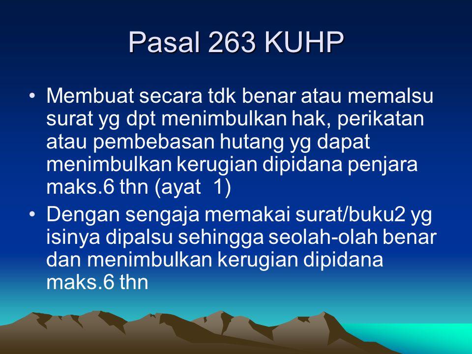 Pasal 263 KUHP