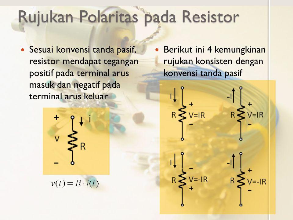 Rujukan Polaritas pada Resistor