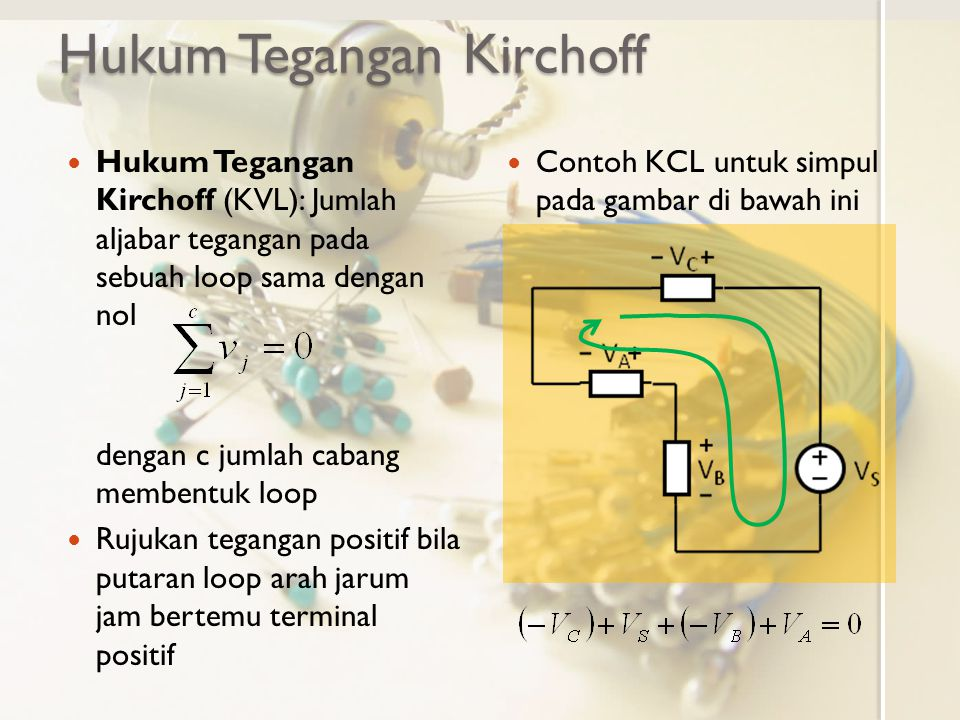 Hukum Tegangan Kirchoff