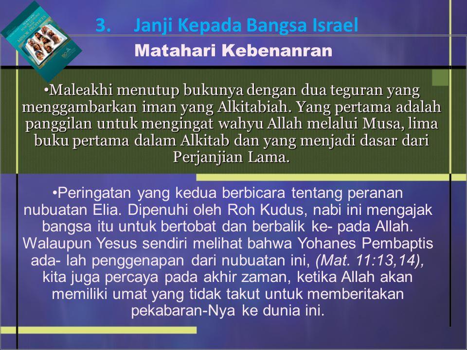 3. Janji Kepada Bangsa Israel Matahari Kebenanran