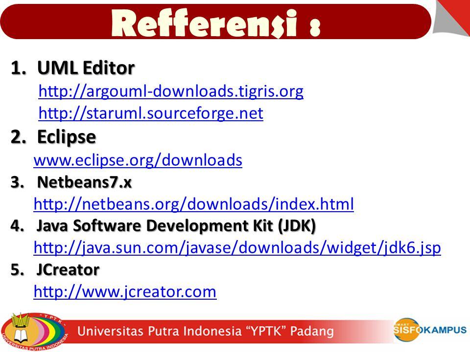 Refferensi : UML Editor Eclipse http://argouml-downloads.tigris.org