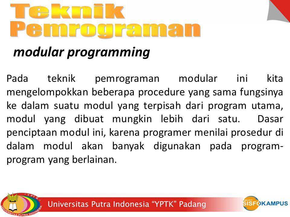 Teknik Pemrograman modular programming