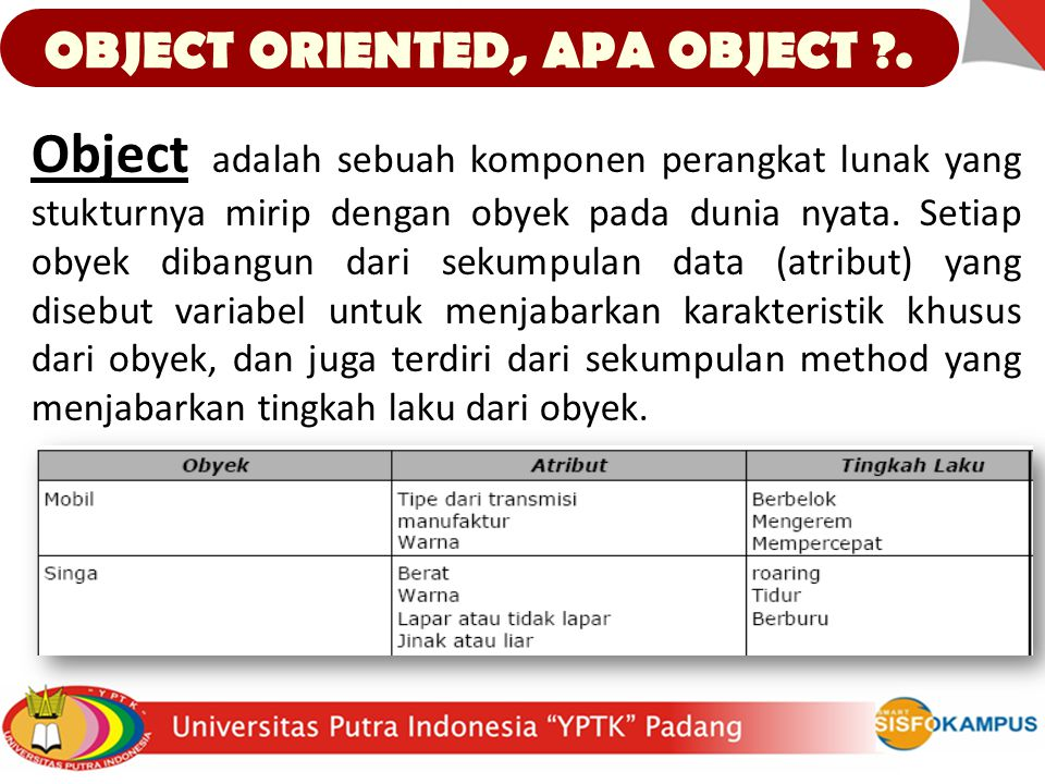 OBJECT ORIENTED, APA OBJECT .
