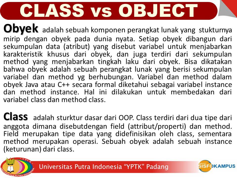 CLASS vs OBJECT