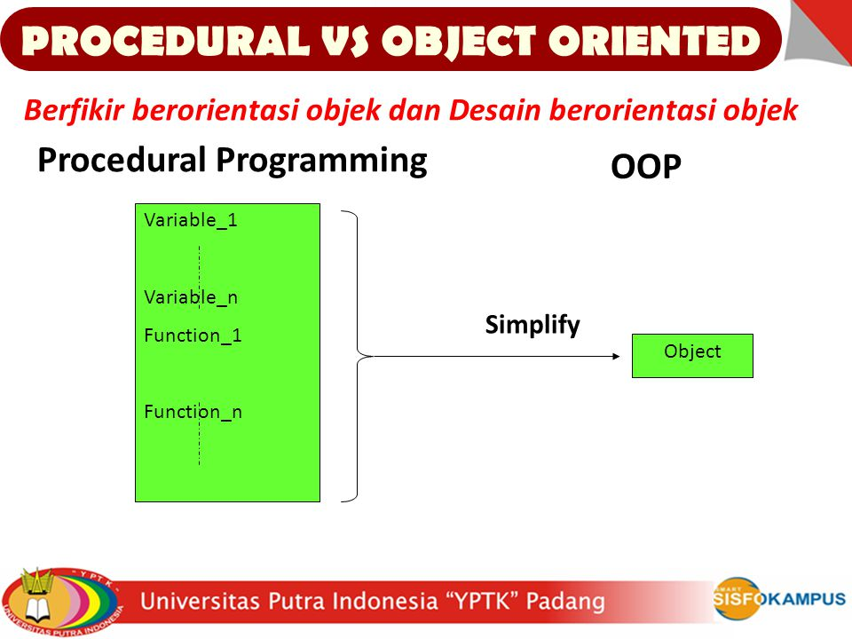 PROCEDURAL VS OBJECT ORIENTED
