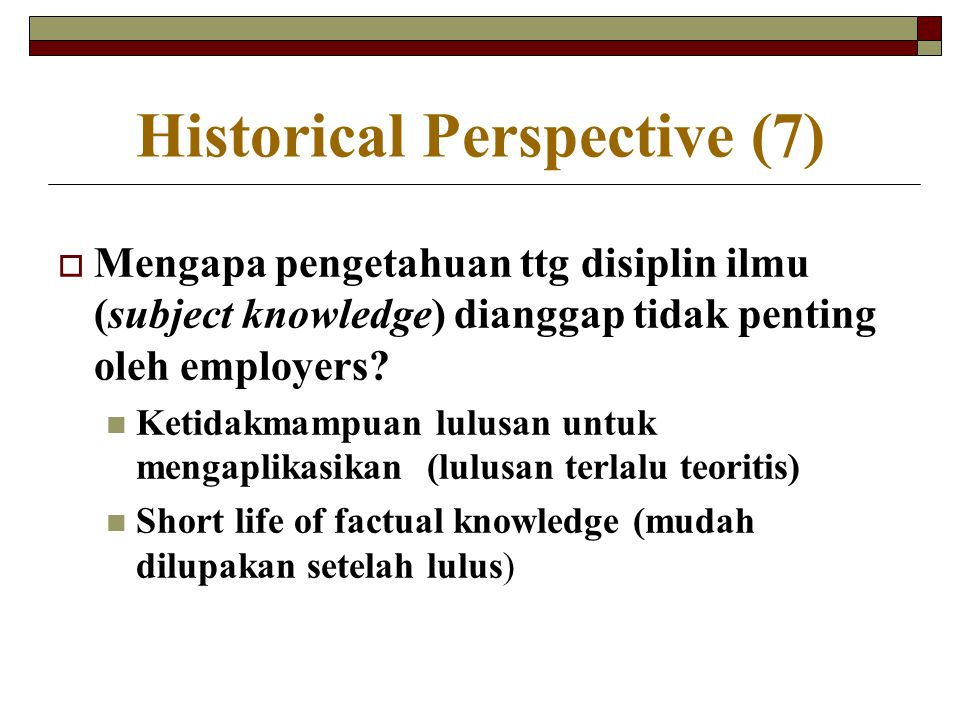 Historical Perspective (7)