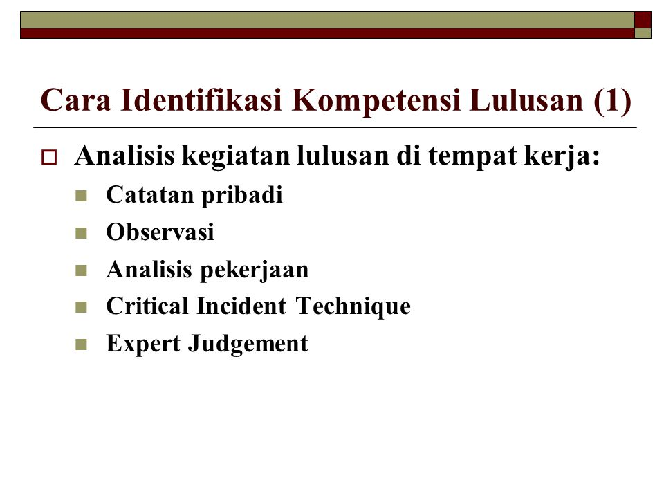 Cara Identifikasi Kompetensi Lulusan (1)