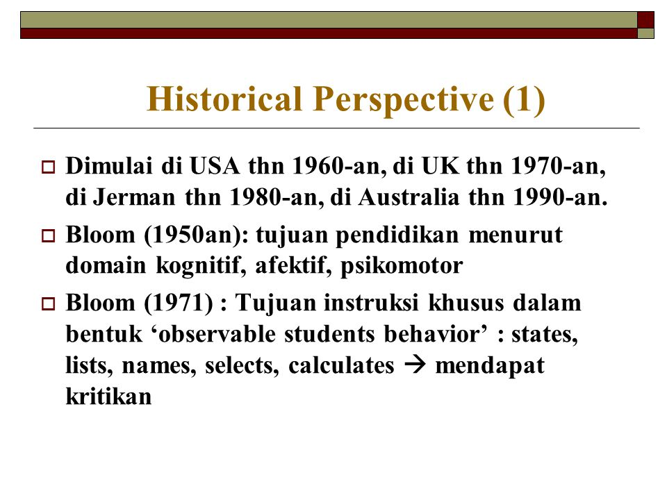 Historical Perspective (1)