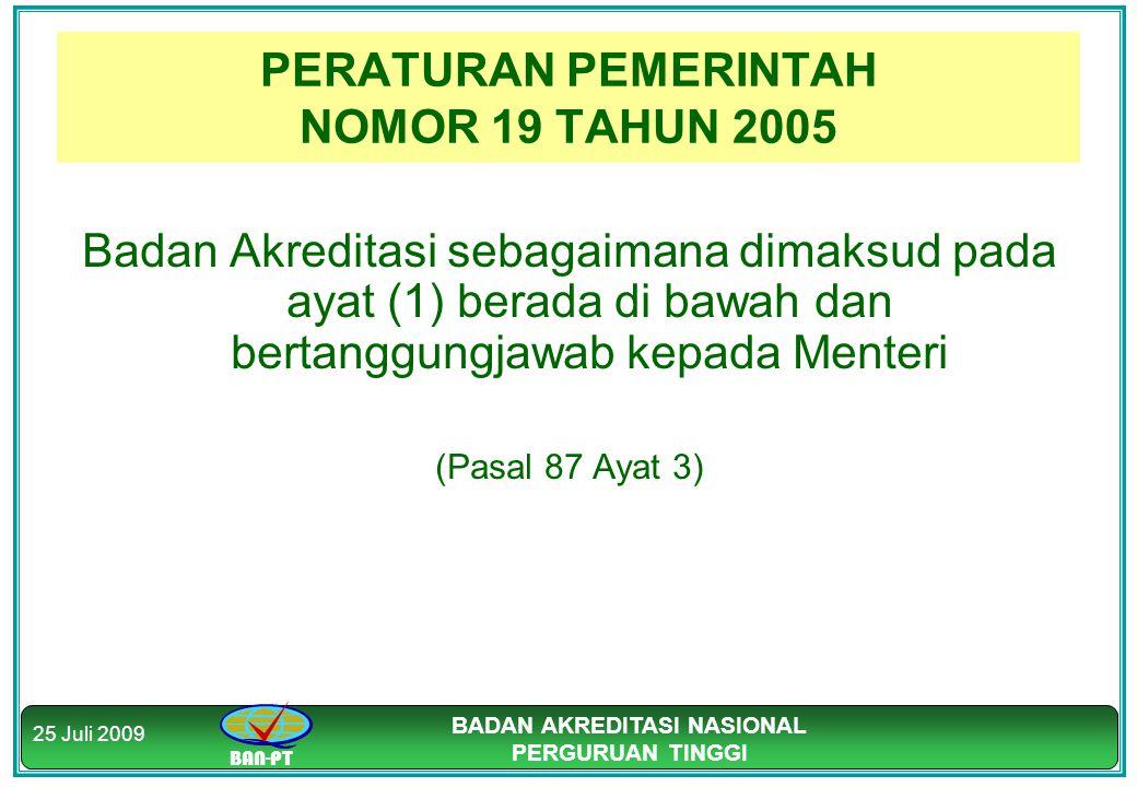 PERATURAN PEMERINTAH NOMOR 19 TAHUN 2005