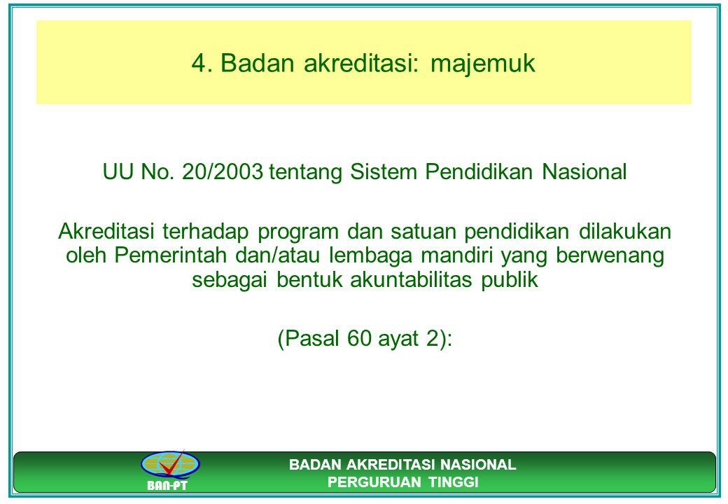 4. Badan akreditasi: majemuk