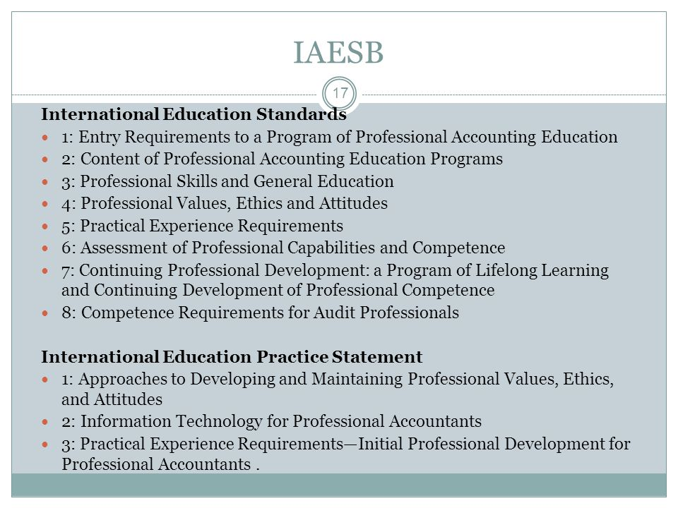IAESB International Education Standards