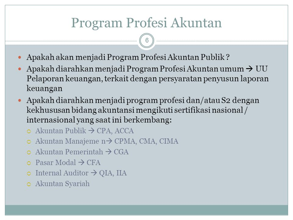 Program Profesi Akuntan