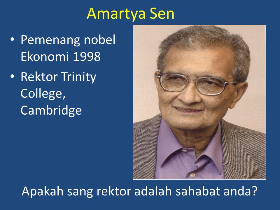 Amartya Sen Pemenang nobel Ekonomi 1998