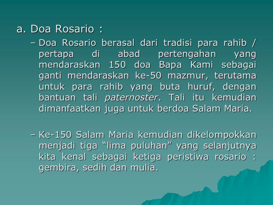 a. Doa Rosario :