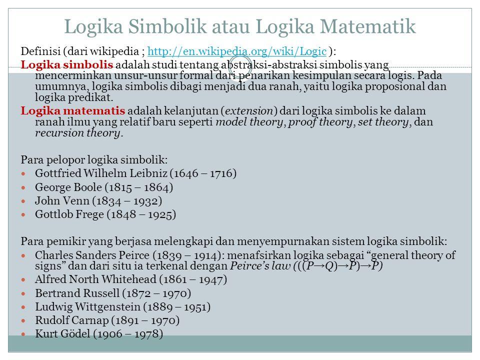 Logika Simbolik atau Logika Matematik