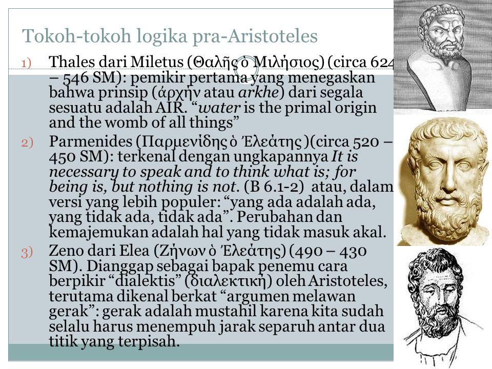 Tokoh-tokoh logika pra-Aristoteles