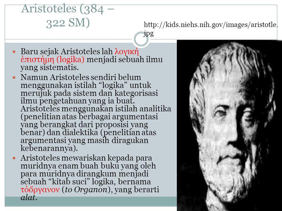 Aristoteles (384 – 322 SM) http://kids.niehs.nih.gov/images/aristotle.jpg.
