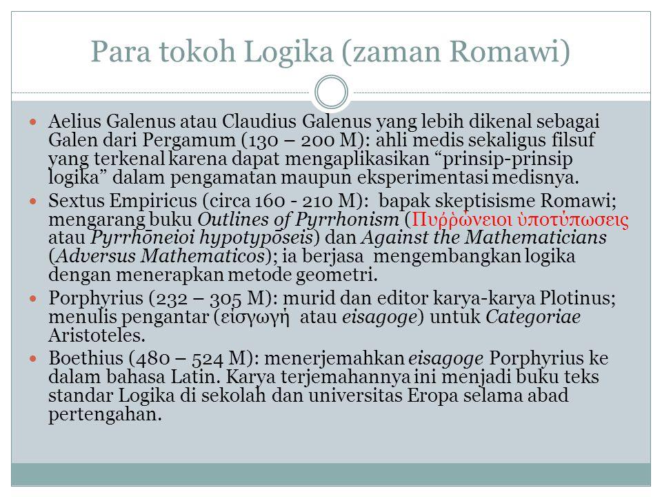 Para tokoh Logika (zaman Romawi)