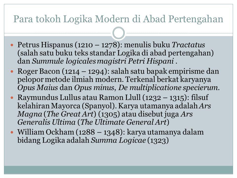 Para tokoh Logika Modern di Abad Pertengahan
