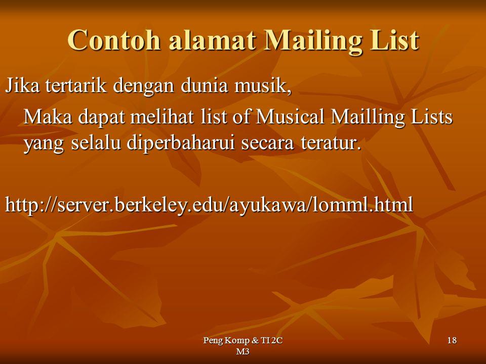 Contoh alamat Mailing List