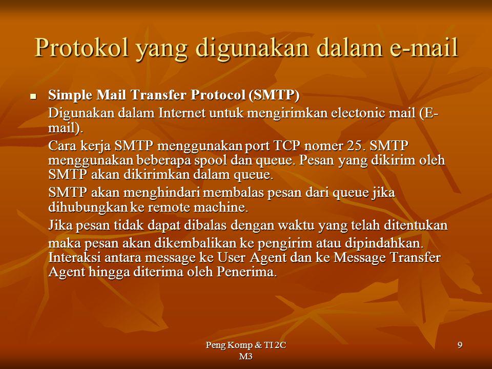 Protokol yang digunakan dalam e-mail