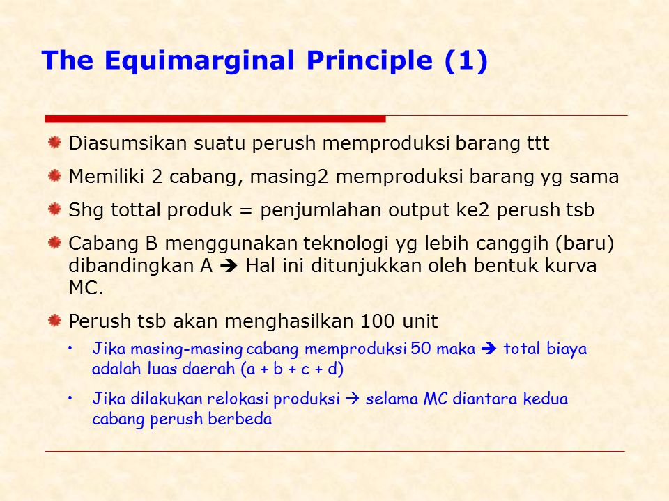 The Equimarginal Principle (1)