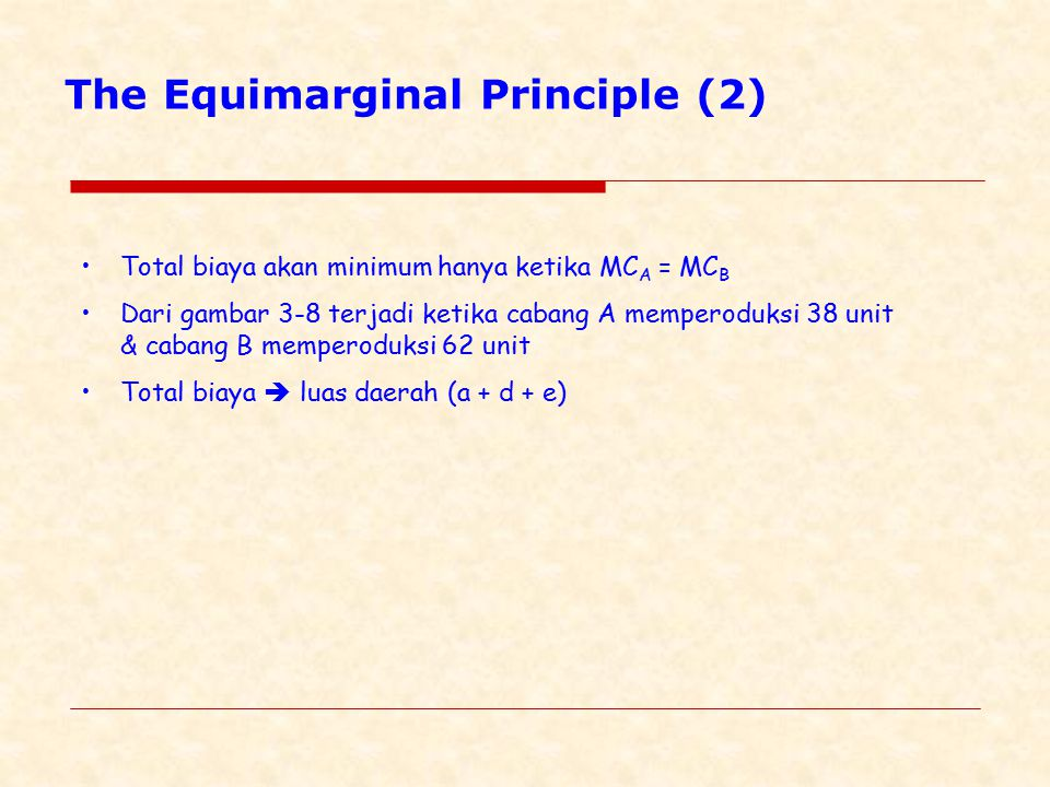 The Equimarginal Principle (2)