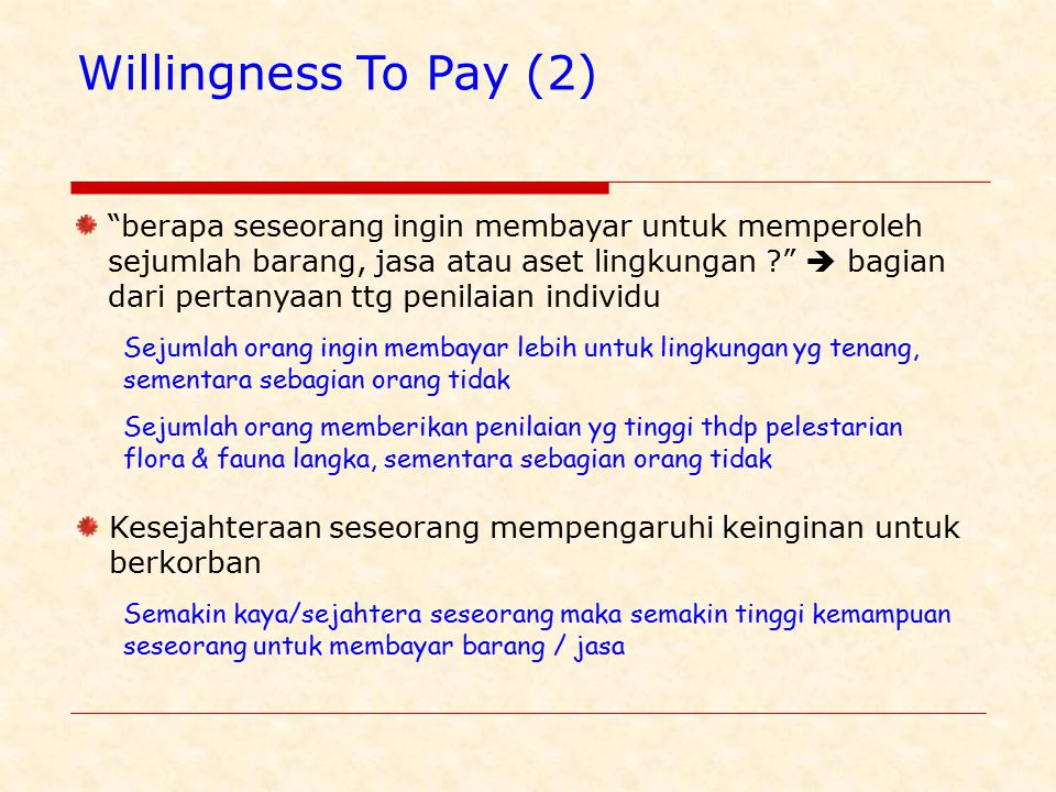 Willingness To Pay (2)