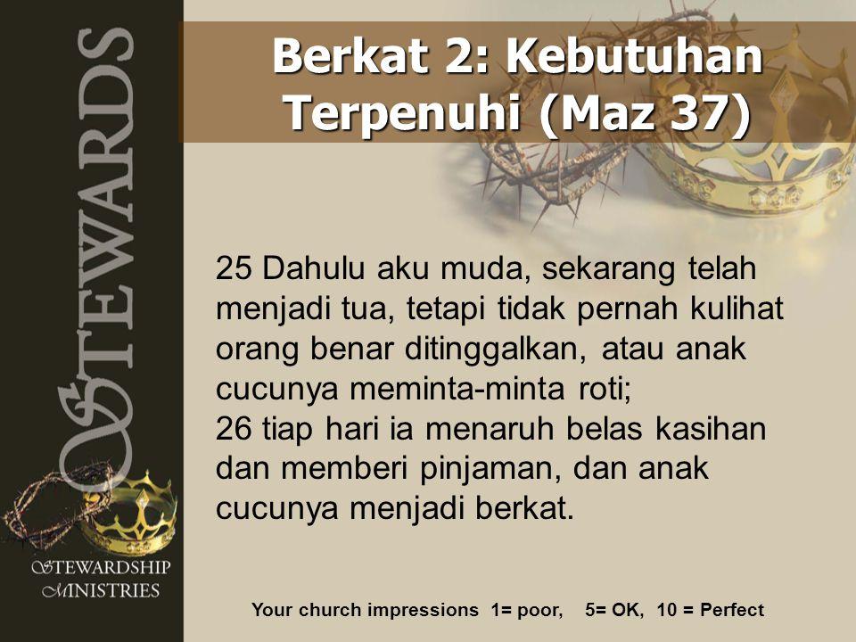 Berkat 2: Kebutuhan Terpenuhi (Maz 37)