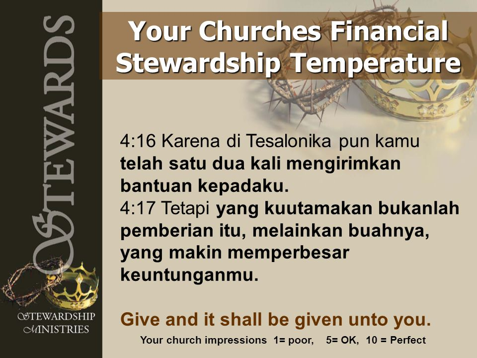 Your Churches Financial Stewardship Temperature