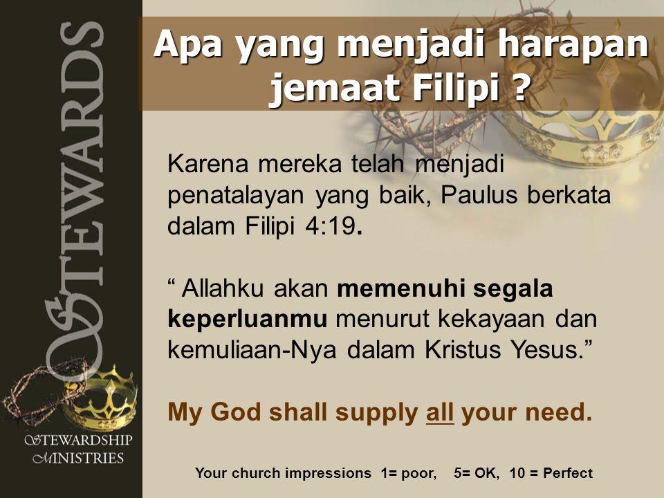 Apa yang menjadi harapan jemaat Filipi