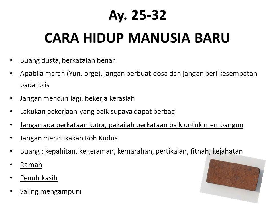 Ay. 25-32 CARA HIDUP MANUSIA BARU