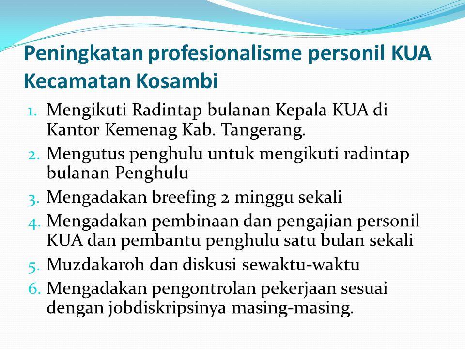 Peningkatan profesionalisme personil KUA Kecamatan Kosambi