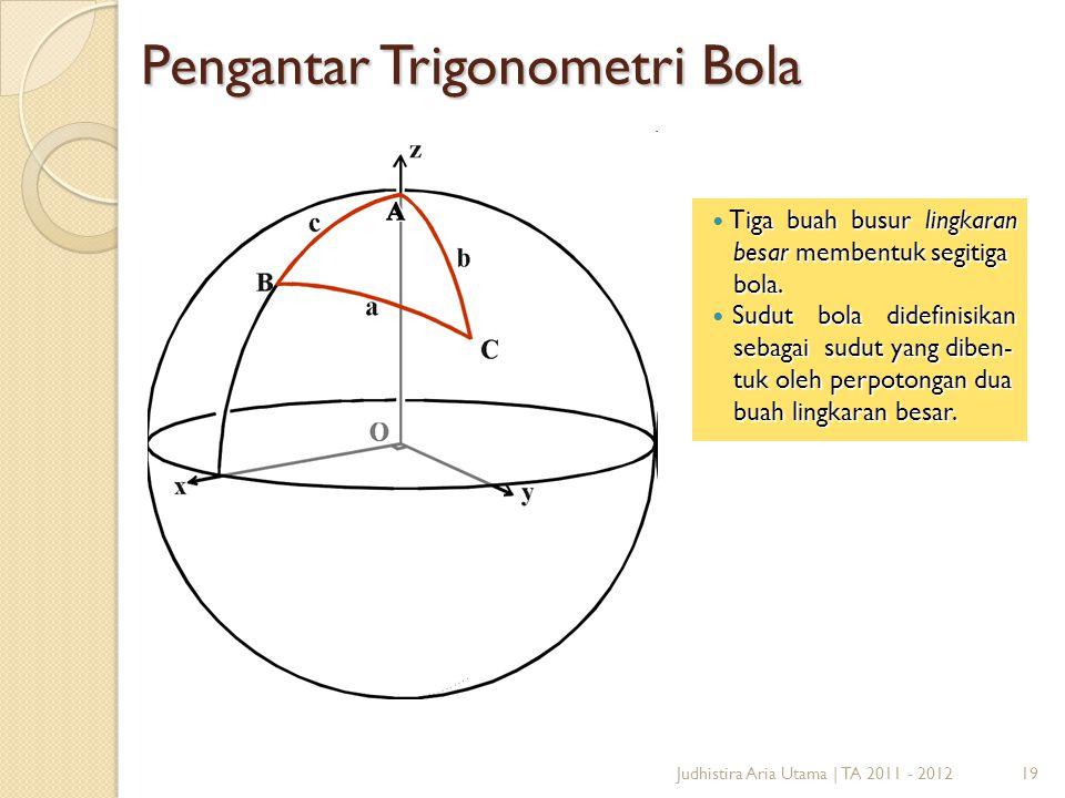 Pengantar Trigonometri Bola
