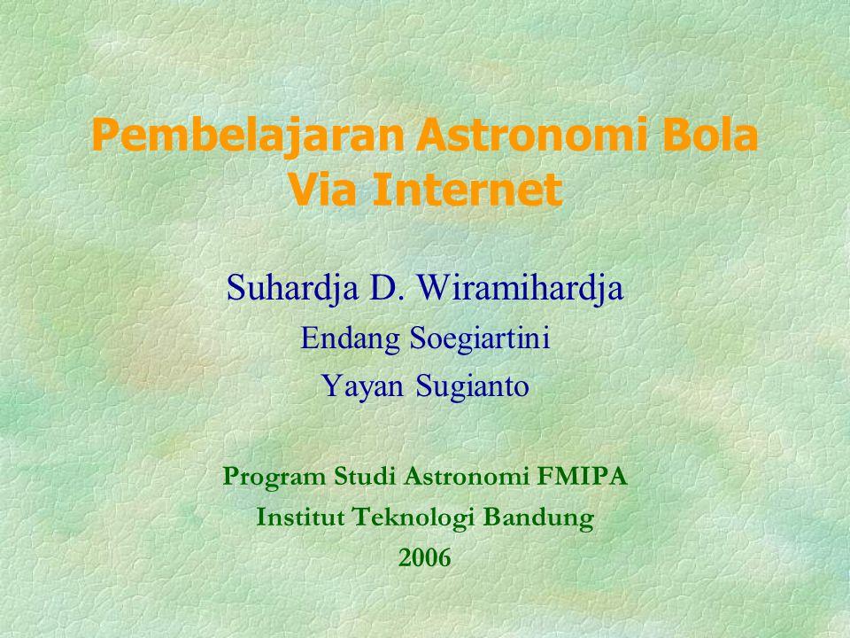 Pembelajaran Astronomi Bola Via Internet