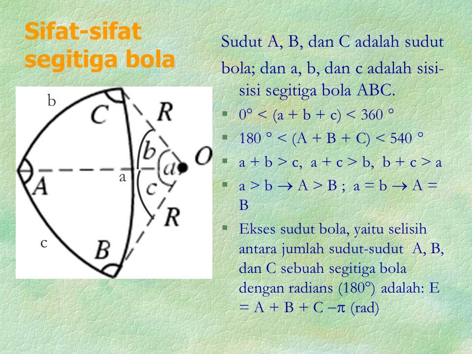 Sifat-sifat segitiga bola