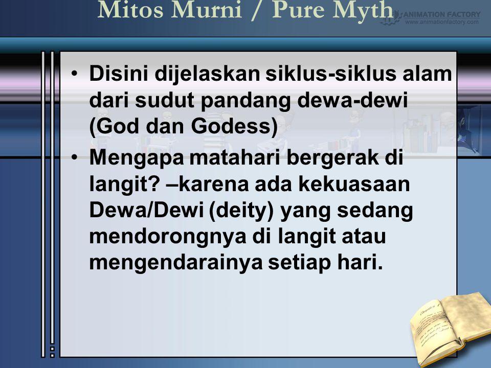 Mitos Murni / Pure Myth Disini dijelaskan siklus-siklus alam dari sudut pandang dewa-dewi (God dan Godess)