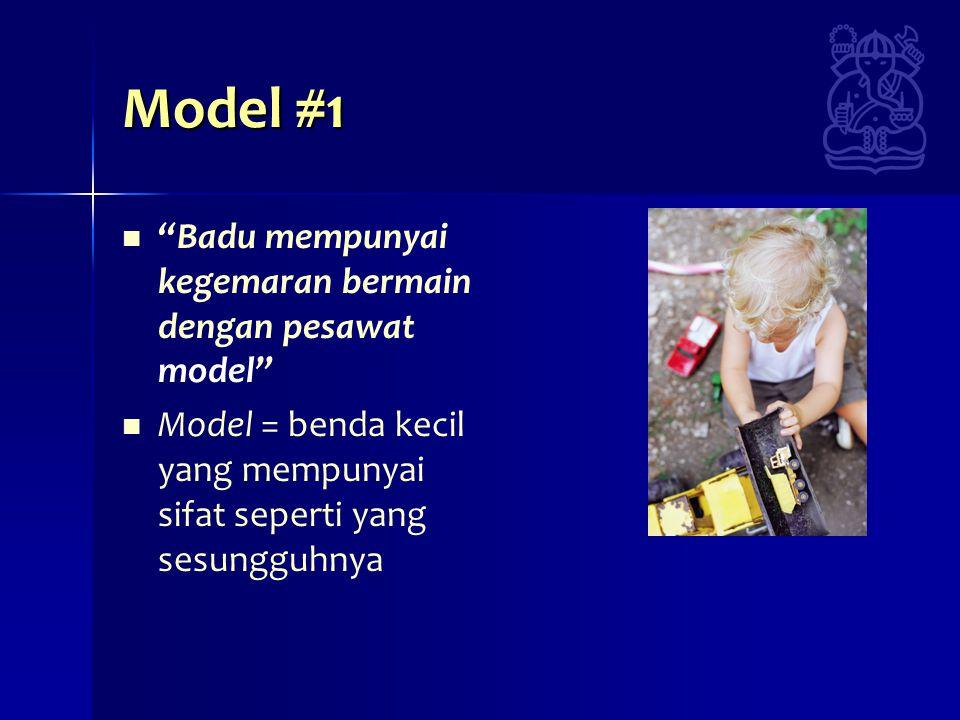 Model #1 Badu mempunyai kegemaran bermain dengan pesawat model