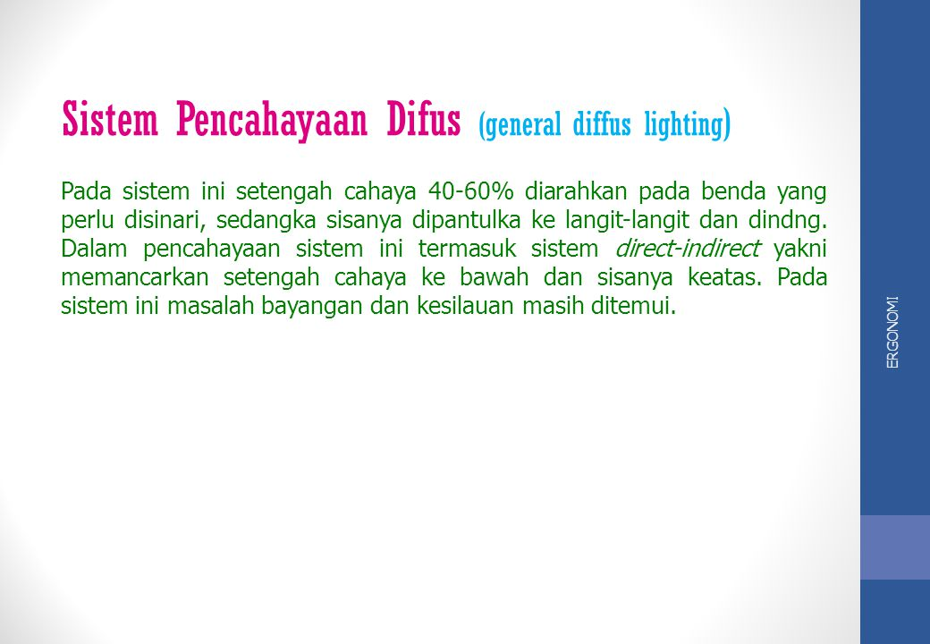 Sistem Pencahayaan Difus (general diffus lighting)