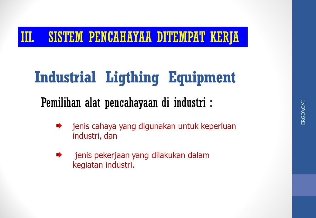 Industrial Ligthing Equipment
