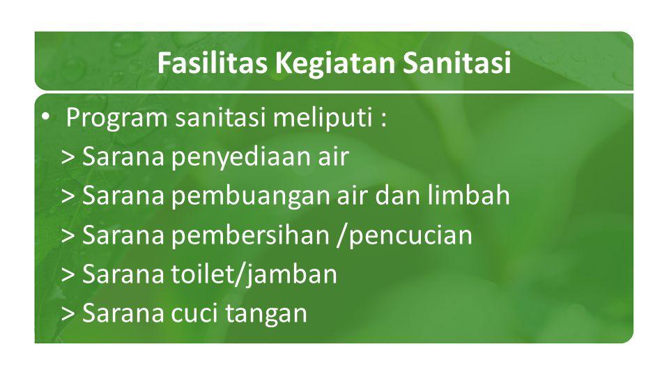 Fasilitas Kegiatan Sanitasi
